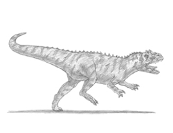 How to Draw an Allosaurus Dinosaur Running