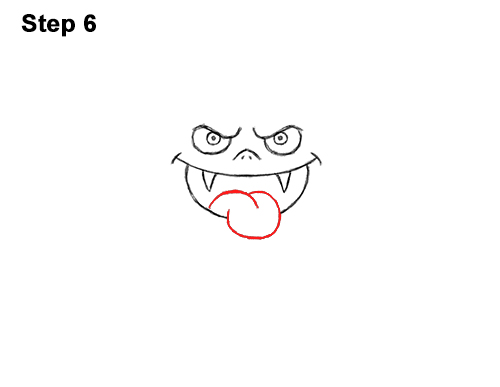 How to Draw Angry Funny Cute Halloween Cartoon Bat 6