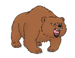 How to Draw a Cartoon Bear Angry