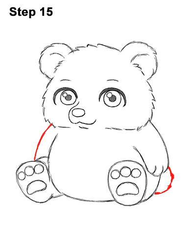 how to draw a bear body