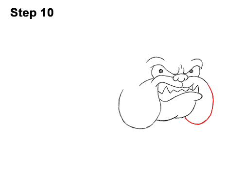 Draw Cartoon Bulldog Tough Mean Dog 10