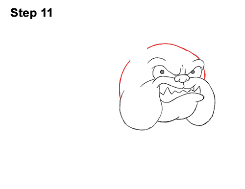 Draw Cartoon Bulldog Tough Mean Dog 11