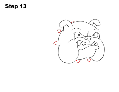Draw Cartoon Bulldog Tough Mean Dog 13