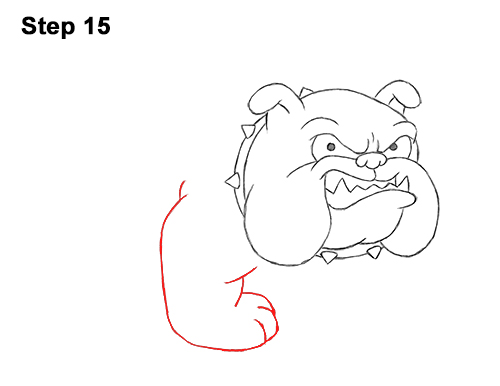 Draw Cartoon Bulldog Tough Mean Dog 15