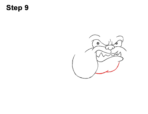 Draw Cartoon Bulldog Tough Mean Dog 9