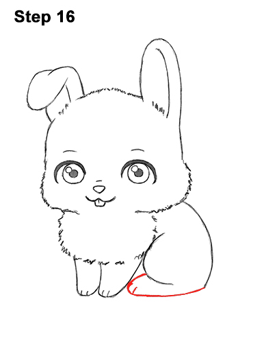 Draw Cute Cartoon Bunny Rabbit Chibi Little Mini 16