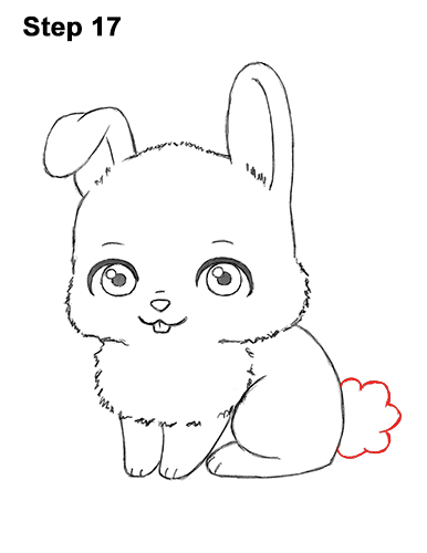 Draw Cute Cartoon Bunny Rabbit Chibi Little Mini 17