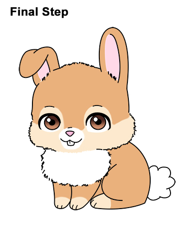 Draw Cute Cartoon Bunny Rabbit Chibi Little Mini