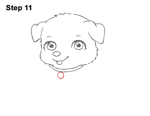 Draw Cartoon Puppy Dog Retriever 11