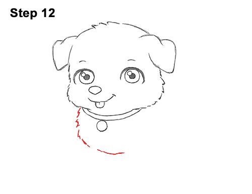 Draw Cartoon Puppy Dog Retriever 12