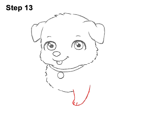 Draw Cartoon Puppy Dog Retriever 13