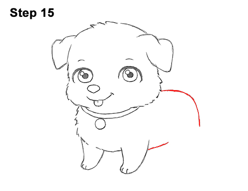 Draw Cartoon Puppy Dog Retriever 15