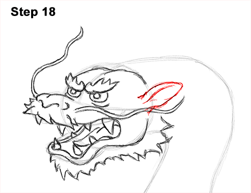 Draw Chinese Dragon 18