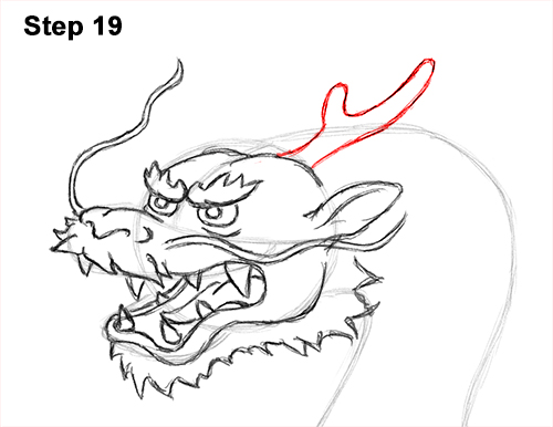 Draw Chinese Dragon 19