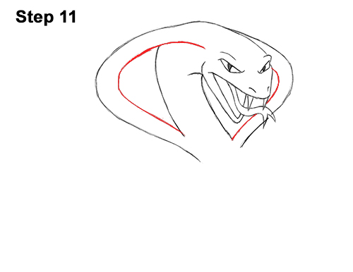 Draw Cartoon Mean Angry Cobra Snake 11