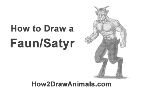 How to Draw Mythical Mythology Faun Satyr