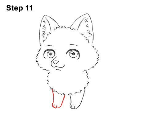 Draw Cute Cartoon Red Fox Chibi Little Mini 11