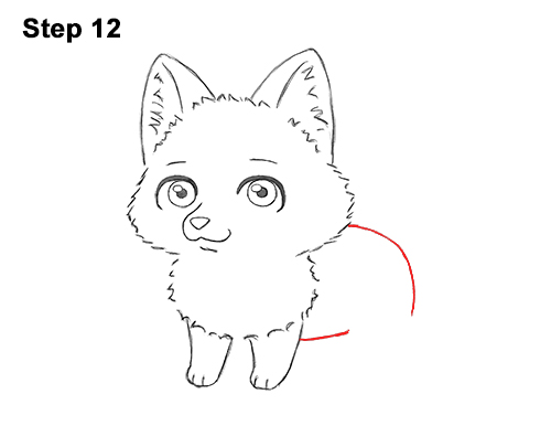 Draw Cute Cartoon Red Fox Chibi Little Mini 12