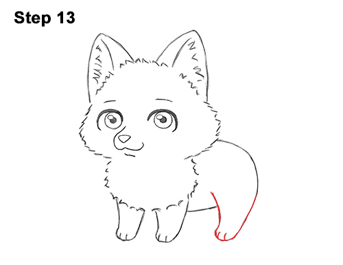 Draw Cute Cartoon Red Fox Chibi Little Mini 13