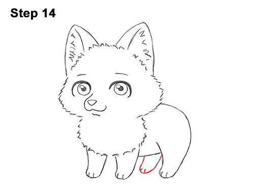 Draw Cute Cartoon Red Fox Chibi Little Mini 14