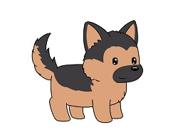 How to Draw a German Shepherd Cartoon Puppy Dog