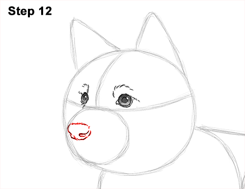 How to Draw a Cute German Shepherd Puppy Dog 12