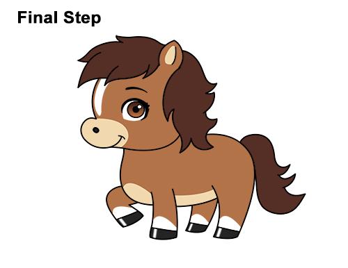 How To Draw A Horse Pony Cartoon