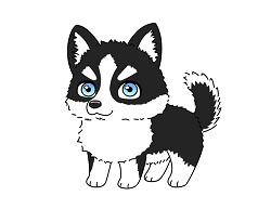 How to Draw a Husky Puppy Dog Cartoon