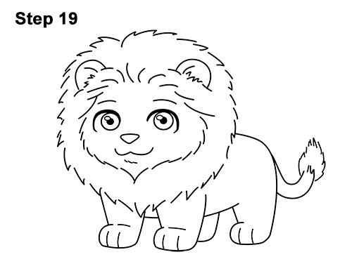 how to draw the lion the flag