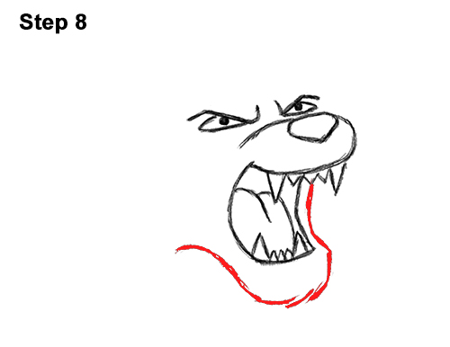 How to Draw Tough Cool Angry Cartoon Lion Roaring 8
