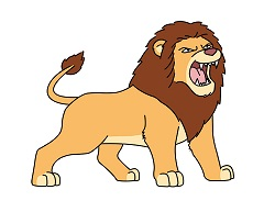 Cartoon Style Big Eyes Lion Clipart 725jpg