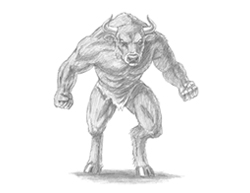 How to Draw Angry Minotaur