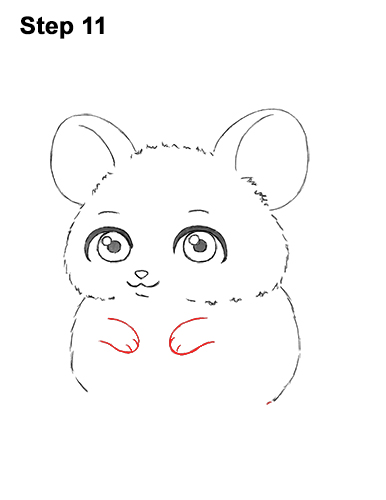Draw a Cute Chibi Little Mini Cartoon Mouse 11