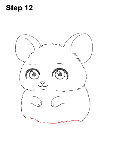 Draw a Cute Chibi Little Mini Cartoon Mouse 12