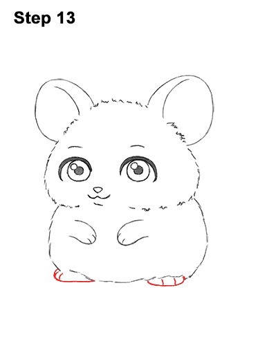 Draw a Cute Chibi Little Mini Cartoon Mouse 13