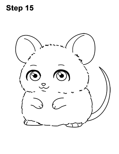 Draw a Cute Chibi Little Mini Cartoon Mouse 15