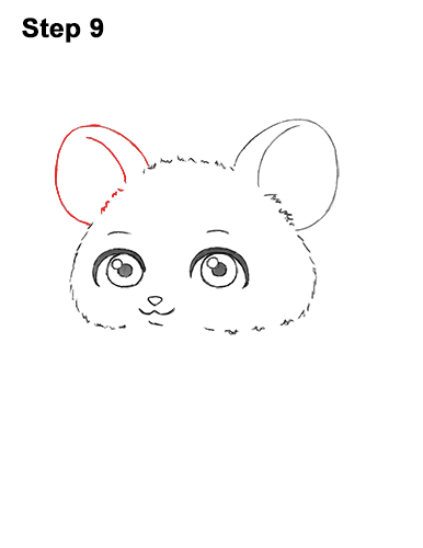Draw a Cute Chibi Little Mini Cartoon Mouse 9