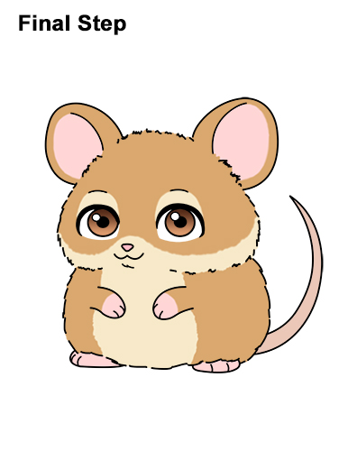 Draw a Cute Chibi Little Mini Cartoon Mouse