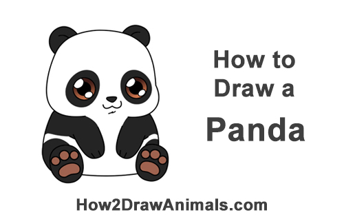 How to Draw Little Baby Small Cute Cartoon Panda Bear Chibi Manga