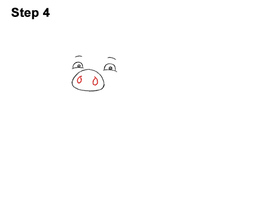 How to Draw a Cute Little Mini Funny Cartoon Pig Piglet 4