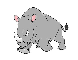 How to Draw an Angry Charging Cartoon Rhinoceros