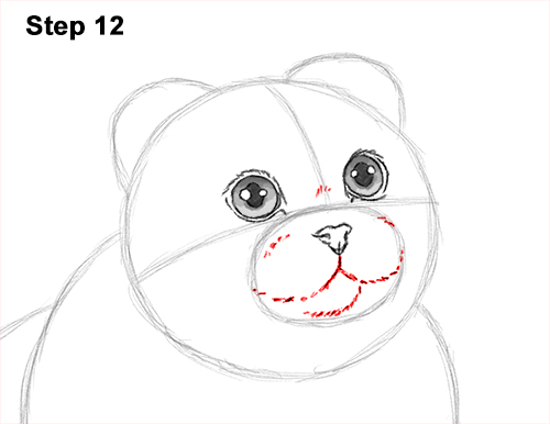 How to Draw a Scottish Fold Cat Playing Pawing Swiping 12