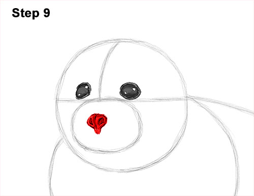 How to Draw a Fluffy Cute Baby Harp Seal Pup 9