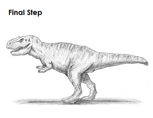Draw Tyrannosaurus Rex Final
