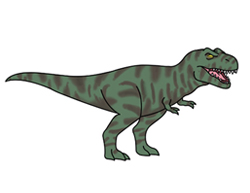 How to Draw a Tyrannosaurus T. Rex Cartoon Dinosaur