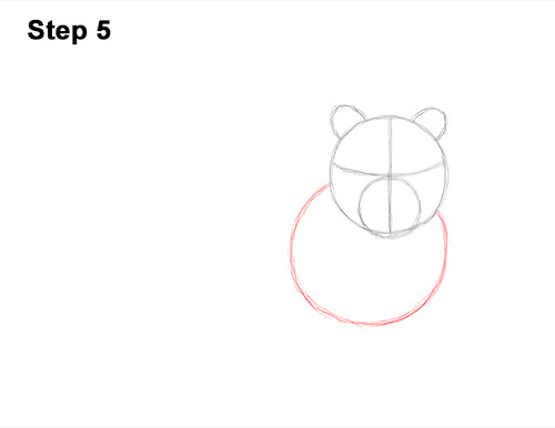 How to Draw a Tiger Laying Lying Down 5