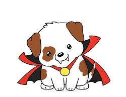 How to Draw a Cartoon Puppy Dog Vampire Halloween