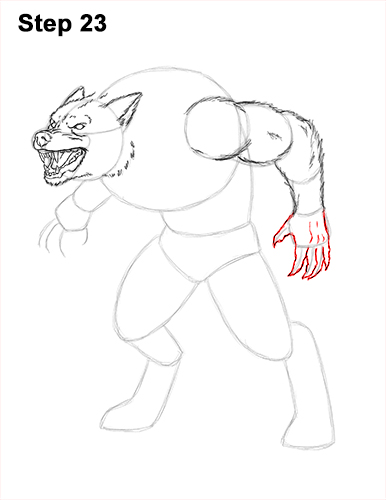 How to Draw Growling Snarling Scary Angry Werewolf 23