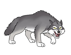 How to Draw a Growling Cartoon Wolf