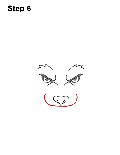How to Draw Angry Growling Snarling Cartoon Wolf Head 6